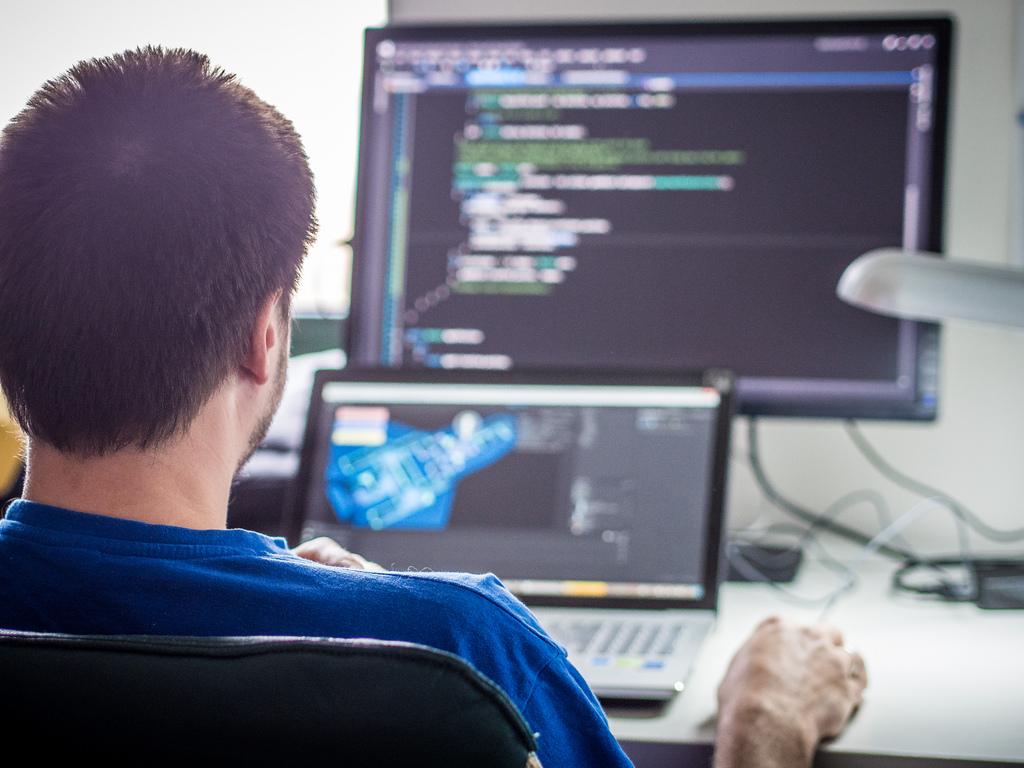 programmer at desk